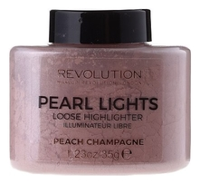 Makeup Revolution Рассыпчатый хайлайтер для лица Pearl Lights Loose Highlighter Peach Champagne 42г