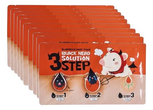 Фото - Патчи для удаления черных точек Milky Piggy Black Head Solution 3 Step Nose Strip: Патчи 10*6г пластыри от черных точек mj care 3 step koala nose clear solution 7г