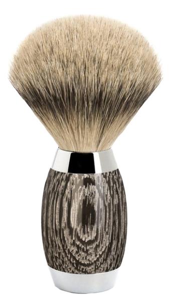 Фото - Помазок Edition No3 (барсучий ворс высшей категории Silvertip, мореный дуб, стерлинговое серебро) помазок omega 618 барсучий ворс