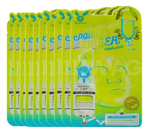 Купить Тканевая маска для лица с экстрактом чайного дерева Tea Tree Deep Power Ringer Mask Pack: Маска 10*23мл, Elizavecca