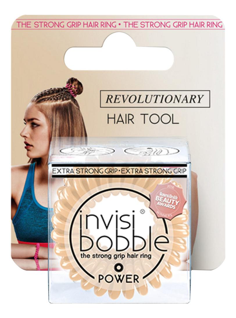 Резинка для волос с подвесом Power To Be Or Nude (бежевая)