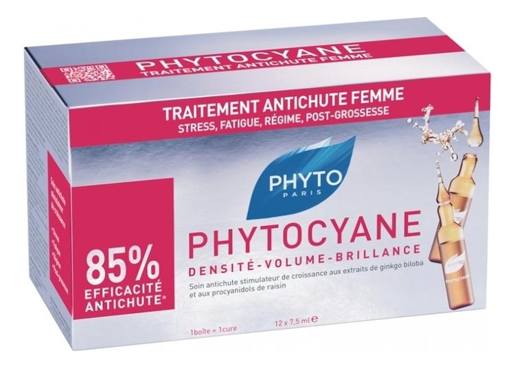 Сыворотка против выпадения волос Phytocyane Density-Volume-Brillance 12*7,5мл phyto phytocyane