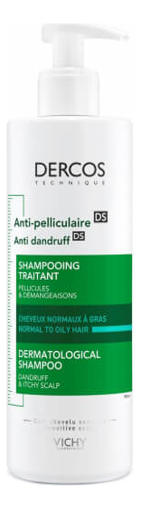 Шампунь-уход против перхоти для сухой кожи головы Dercos Anti-Dandruff DS: Шампунь-уход 390мл vichy скраб для кожи головы