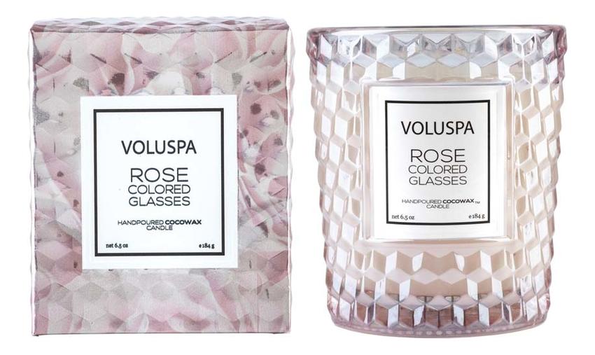 Купить Ароматическая свеча Rose Colored Glasses (мир в розовом цвете): свеча в подарочной коробке 184г, VOLUSPA