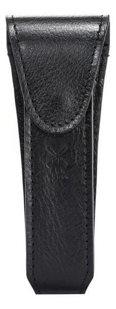 Дорожный чехол для Т-образной бритвы (черная кожа)