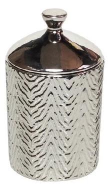Купить Ароматическая свеча White Tea & Mint Zebra Textured 439г, Ароматическая свеча White Tea & Mint Zebra Textured 439г, Thompson Ferrier