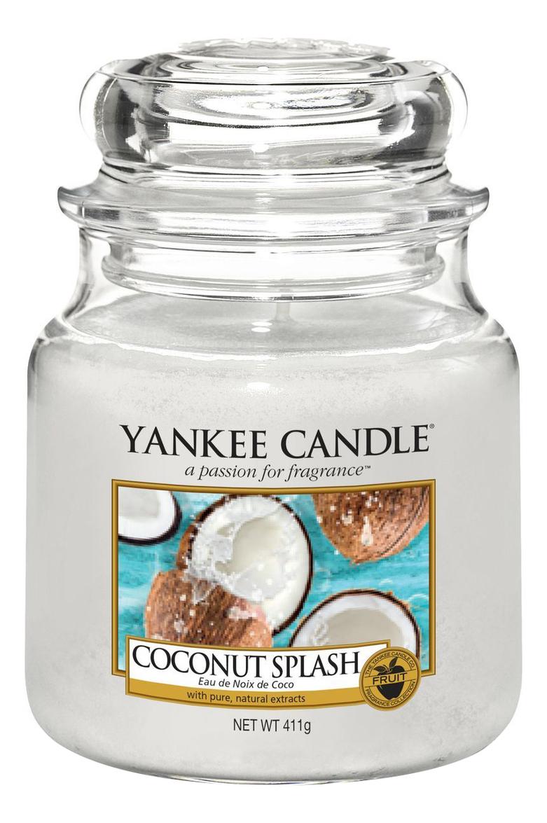 Купить Ароматическая свеча Coconut Splash: Свеча 411г, Yankee Candle