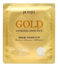 Petitfee Гидрогелевая маска для лица Gold Hydrogel Mask Pack