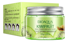 Bioaqua Ночная маска для лица с экстрактом киви Kiwifruit Snail Tender Skin Sleep Mask 120мл
