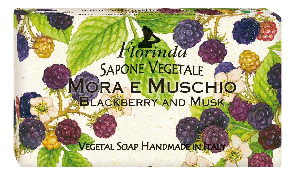 Фото - Натуральное мыло Passione Di Frutta Mora E Muschio 100г натуральное мыло passione di frutta uva e mirtillo 100г мыло 100г