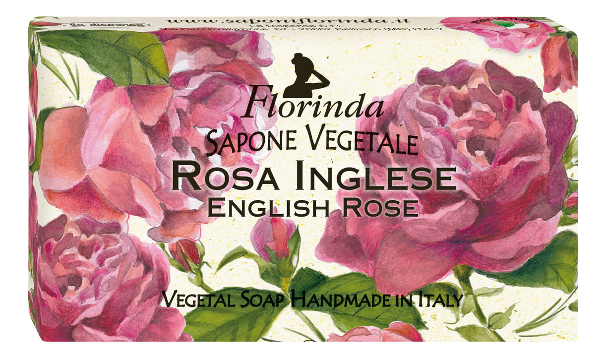цена Натуральное мыло Fiori & Fiori Rosa Inglese 100г онлайн в 2017 году