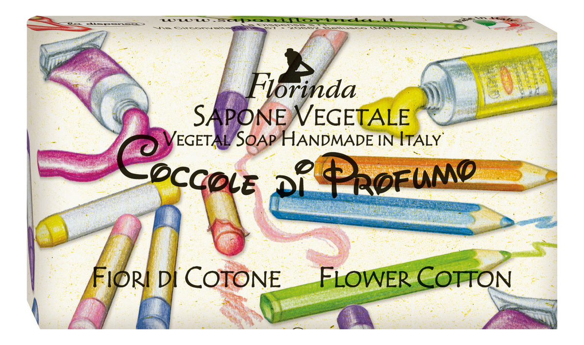 Фото - Натуральное мыло Coccole Di Profumo Fiori Di Cotone 100г profumo di donna юбка до колена