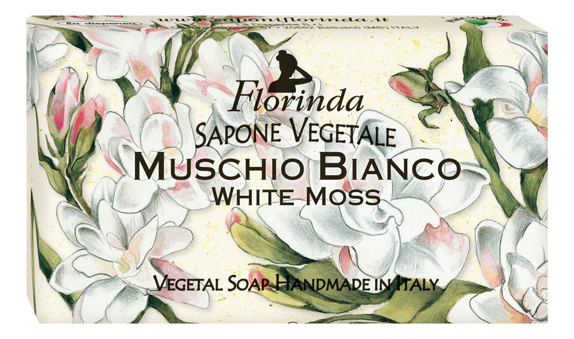 Натуральное мыло Magie Dei Fiori Muschio Bianco 100г дж вариско alla caccia dei fiori