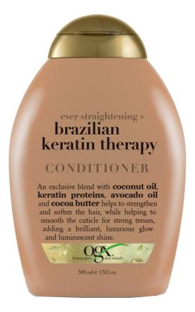 Разглаживающий кондиционер для волос Ever Straightening+ Brazilian Keratin Therapy Conditioner 385мл