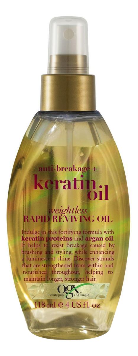 Легкое масло-спрей для волос с кератиновым маслом Anti-Breakage+ Keratin Oil Healing 118мл недорого