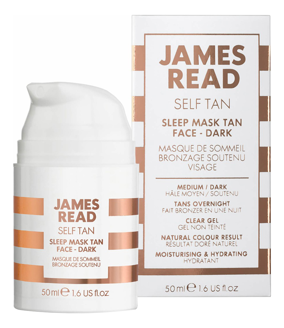 Купить Ночная маска для лица Self Tan Sleep Mask Face Dark: Маска 50мл, James Read