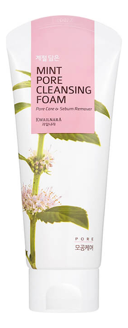 Фото - Пенка для умывания с экстрактом мяты Kwailnara Mint Pore Cleansing Foam 130г пенка для умывания milky piggy elastic pore cleansing foam 120мл