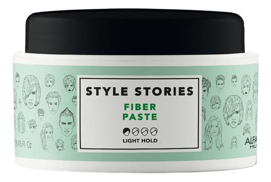 Матовая паста легкой фиксации волос Style Stories Fiber Paste 100мл матовая паста для укладки волос be style matte shaper paste 100мл