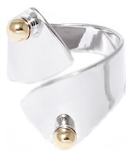 Серебристое незамкнутое кольцо