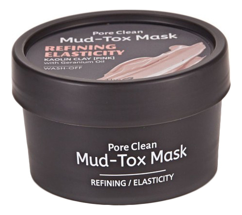 Маска для лица с каолиновой глиной Pore Clean Mud-Tox Mask Pink 80г маска для лица с каолиновой глиной pore clean mudtox mask yellow 80гр the yeon