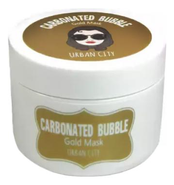 Маска для лица глиняно-пузырьковая с золотом Urban City Carbonated Bubble Gold Mask 100мл