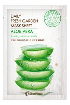 Купить Тканевая маска для лица с экстрактом алоэ вера Skin Planet Daily Fresh Garden Mask Sheet Aloe Vera 25г, Mijin