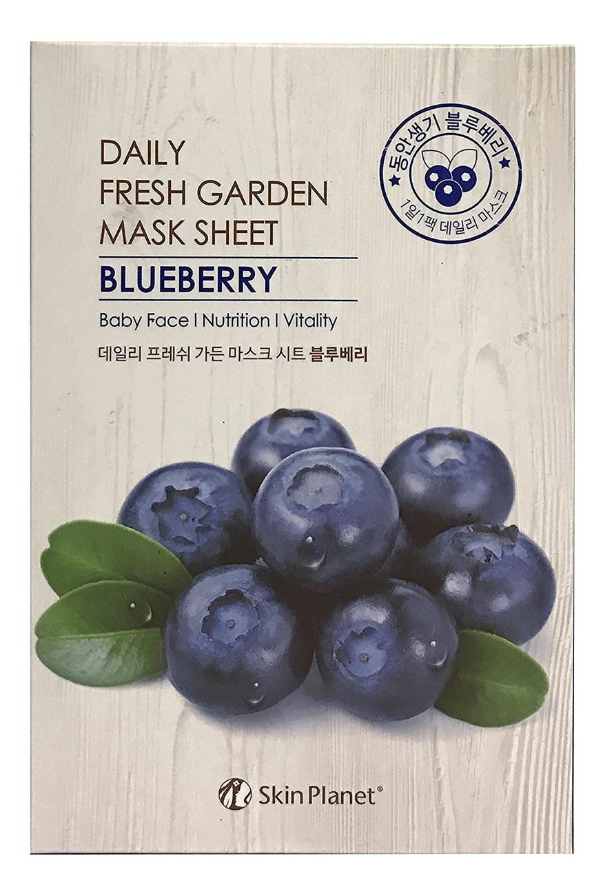 Купить Тканевая маска для лица с экстрактом черники Skin Planet Daily Fresh Garden Mask Sheet Blueberry 25г, Mijin