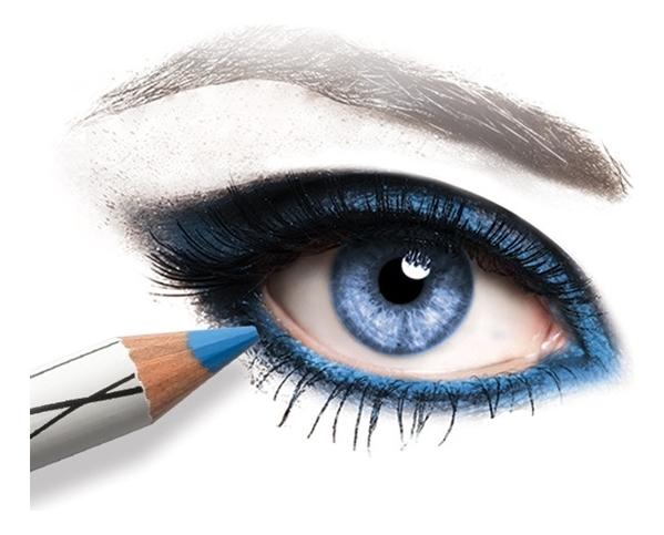 Пудровый карандаш для глаз 12 часов устойчивости Organic Ultra Soft Powdery Eyeliner 3г: E06 Индиго недорого