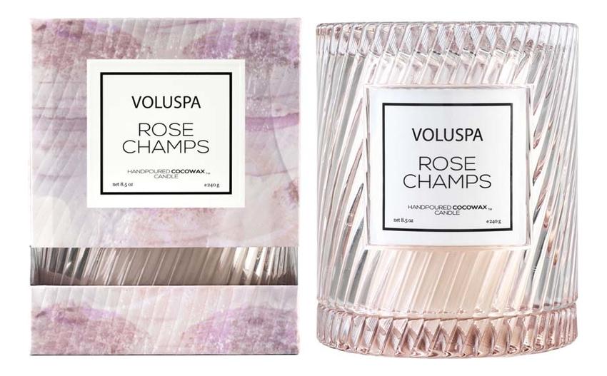 Ароматическая свеча Rose Champs: свеча в стеклянном подсвечнике с крышкой 240г ароматическая свеча vitae свеча 240г