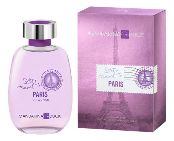 Mandarina Duck Let's Travel To Paris For Woman: туалетная вода 100мл jackets modis m182s00041 down coat jacket for female for woman tmallfs