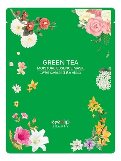 Тканевая маска для лица с экстрактом зеленого чая Green Tea Moisture Essence Mask 25мл sun smile essence маска для лица успокаивающая с экстрактом зеленого чая 1 шт