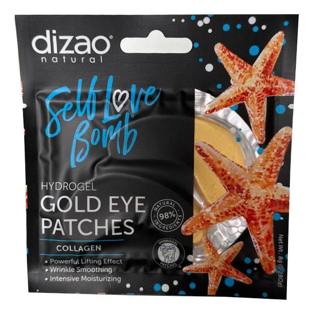 Купить Гидрогелевые золотые патчи для кожи вокруг глаз 100% Коллаген: Патчи 1шт, Dizao