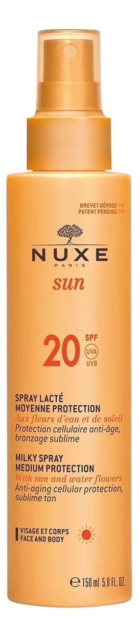 Солнцезащитное спрей-молочко для лица и тела SPF20 San Milky Spray For Face And Body Medium Protection 150мл sothys молочко с spf20 для лица и тела 150 мл