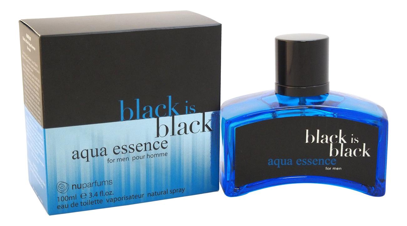 Купить Black Is Black Aqua Essence: туалетная вода 100мл, Nuparfums