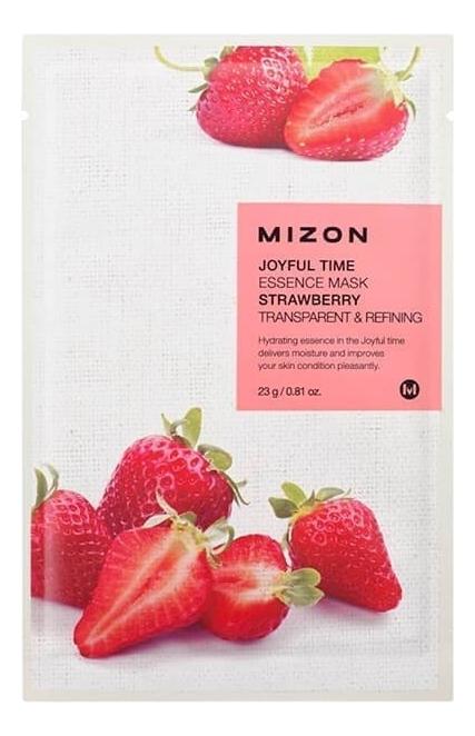 Купить Тканевая маска для лица с экстрактом клубники Joyful Time Essence Mask Strawberry 23г, Mizon