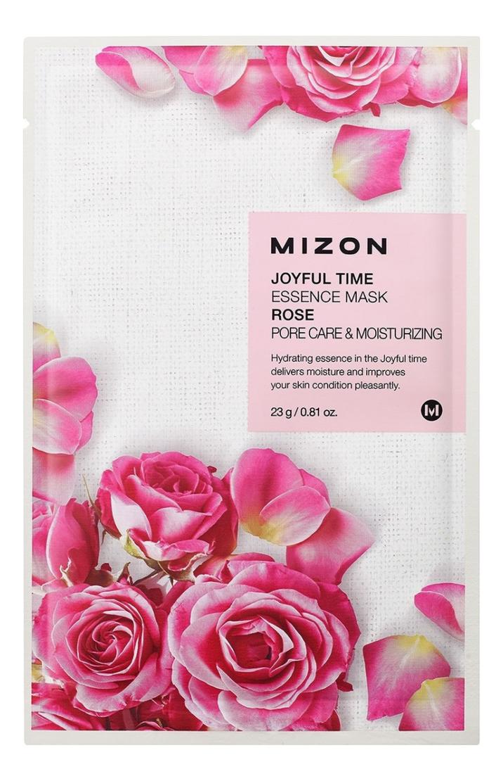 Тканевая маска для лица с экстрактом лепестков розы Joyful Time Essence Mask Rose 23г антивозрастная тканевая маска для лица rose gold mask anti aging 23г