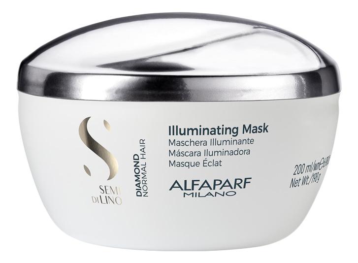 Маска для нормальных волос, придающая блеск Semi Di Lino Diamond Illuminating Mask 200мл: Маска 200мл маска придающая объём density mask