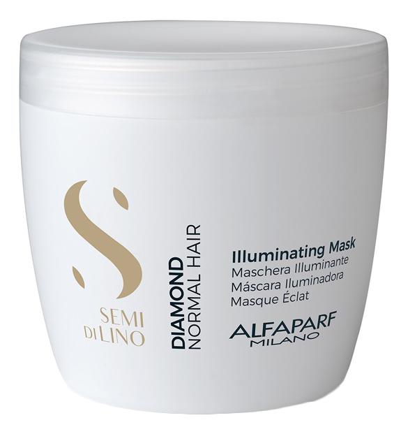 Маска для нормальных волос, придающая блеск Semi Di Lino Diamond Illuminating Mask 500мл: Маска 500мл маска придающая объём density mask