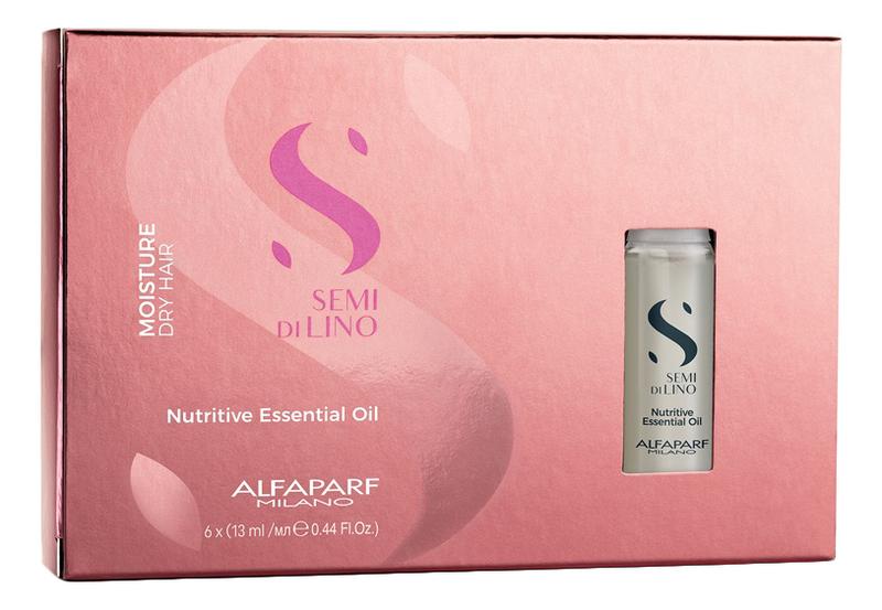 Масло увлажняющее для питания сухих волос Semi Di Lino Nutritive Essential Oil 6*13мл недорого