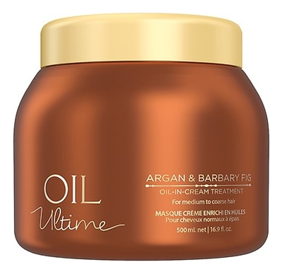Маска для волос Oil Ultime Argan & Barbary Fig Oil-in-Treatment: Маска 500мл schwarzkopf маска мусс oil ultime lignt oil in mousse 500 мл