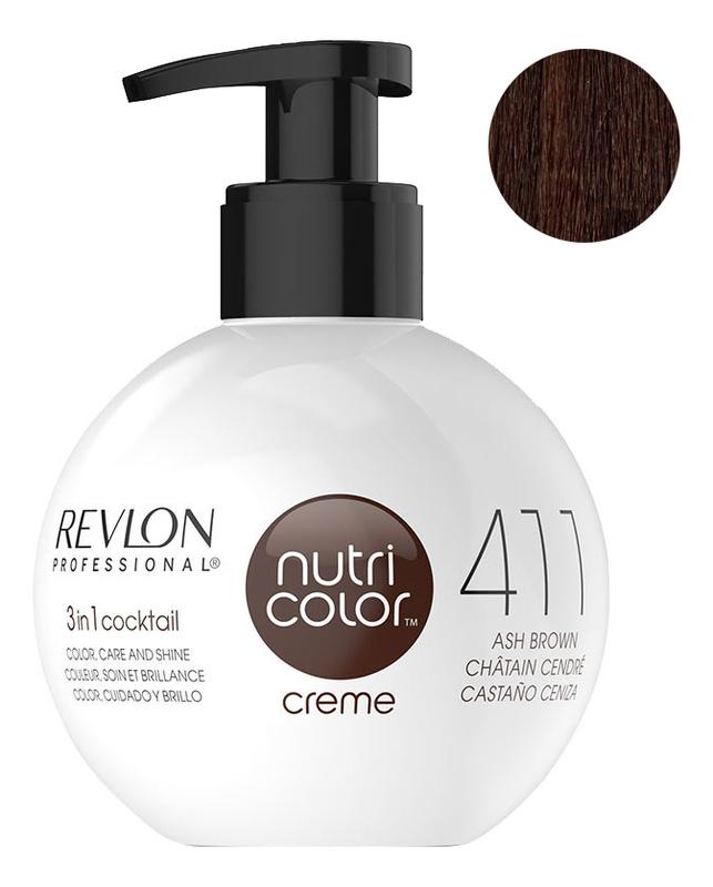 Краска для волос Nutri Color Creme 411 Brown: Краска 270мл недорого