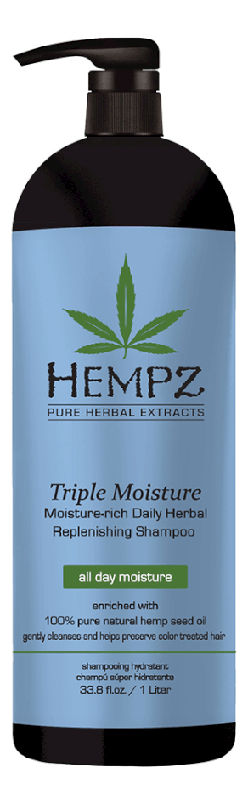 Шампунь для волос Тройное увлажнение Triple Moisture Replenishing Shampoo: 1000мл