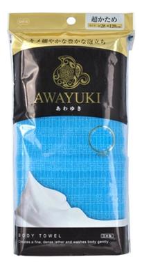 Мочалка для тела сверхжесткая Awayuri Nylon Tower Ultra Firm (синяя) ohe мочалка awayuki для тела сверхжесткая удлиненная синяя 28х100 см 1 шт