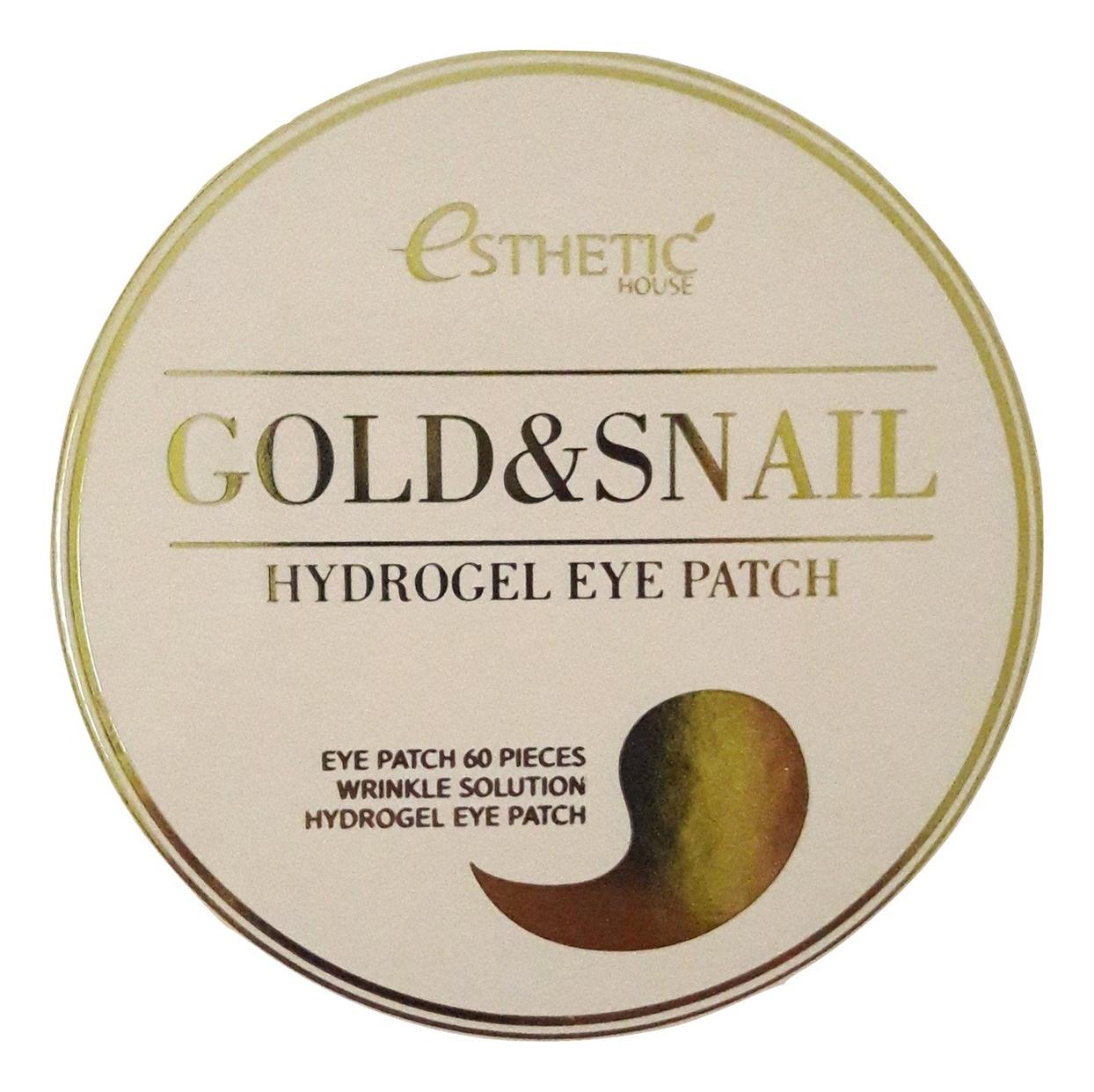 Купить Гидрогелевые патчи для кожи вокруг глаз с муцином улитки и золотом Gold & Snail Hydrogel Eye Patch 60шт, Гидрогелевые патчи для кожи вокруг глаз с муцином улитки и золотом Gold & Snail Hydrogel Eye Patch 60шт, Esthetic House