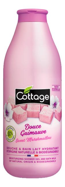 Гель-пенка для ванны и душа Moisturizing Shower Gel And Bath Milk With Marshmallow Extracts 750мл