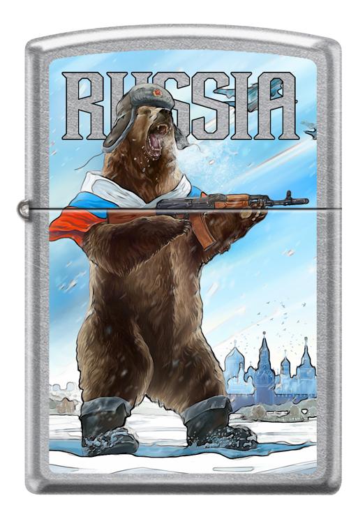 Купить Зажигалка бензиновая 207 Russian Bear, Zippo
