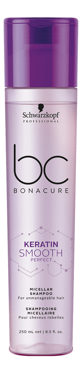 Мицеллярный шампунь для волос BC Keratin Smooth Perfect Micellar Shampoo: Мицеллярный шампунь 250мл шампунь трессеме мицеллярный