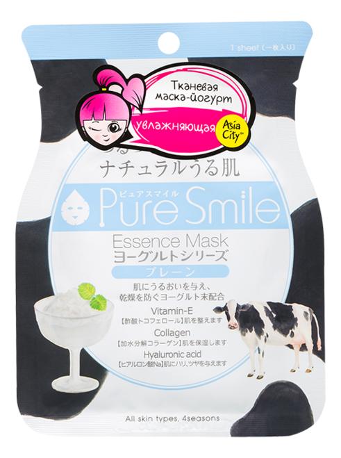 Фото - Тканевая маска для лица на йогуртовой основе Pure Smile Essence Mask 23мл маска для лица sunsmile pure smile essence mask green tea 23 мл