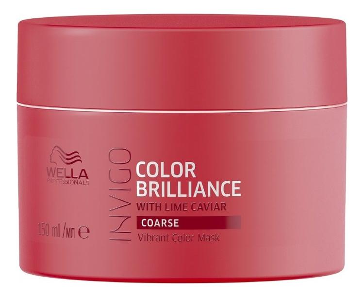 Купить Маска-уход 150мл: Маска-уход 150мл, Маска-уход для защиты цвета окрашенных жестких волос Invigo Color Brilliance Coarse, Wella