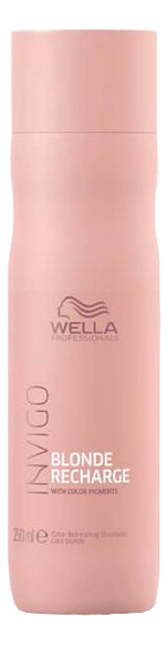 Купить Шампунь для волос нейтрализующий желтизну Invigo Blonde Recharge With Color Pigments Shampoo: Шампунь 250мл, Wella